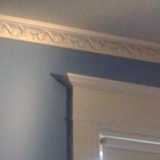 Crown moulding in early morning on a Saturday