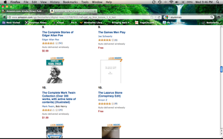 My novella in the top ten of Amazon!
